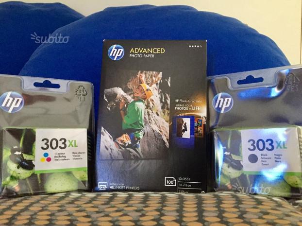 CARTUCCE HP 303xl - CARTA FOTOGRAFICA HP 100 fogli