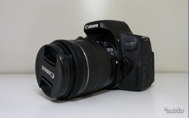 Canon 750D semi nuova + batterie aggiuntive