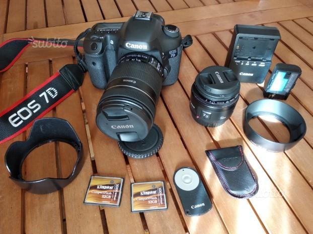 Canon Eos 7D + 2 obiettivi + accessori