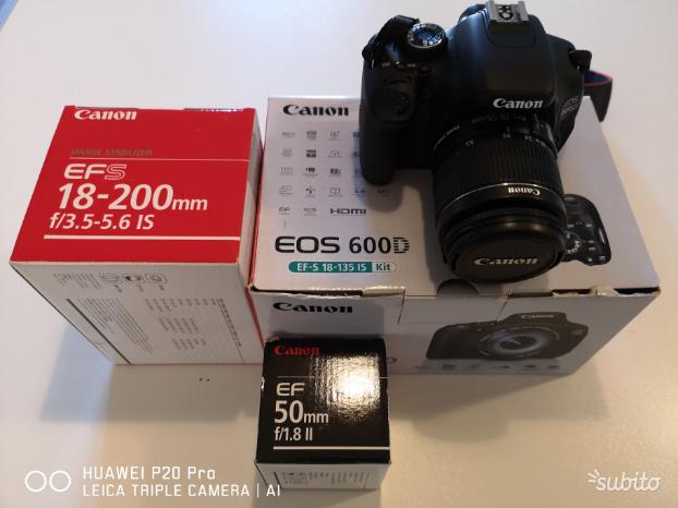 Canon eos 600d con obiettivi