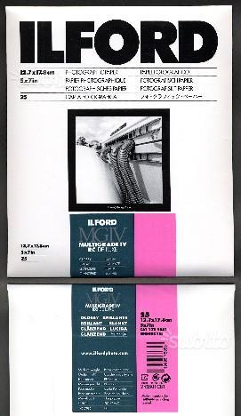 Carta fotografica Ilford, formato 13x fogli