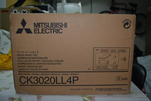 Carta ribbon mitsubishi ckll4p per stampante