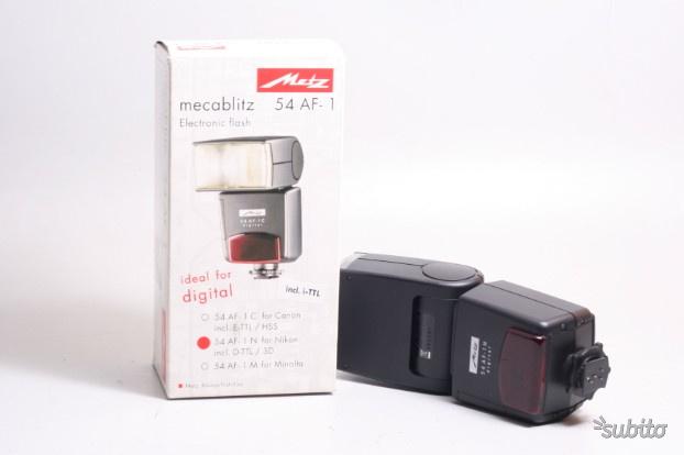 Flash metz mecablitz 54 af-1 electronic flash. nik