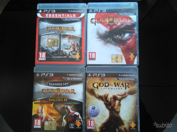 GOD OF WAR lotto giochi per PS3