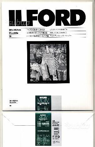 Ilford bianco e nero, carta fotografica 24xf