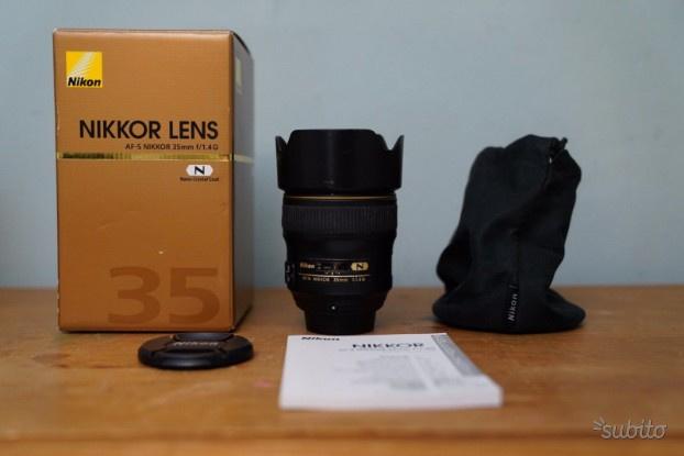 Obiettivo NIKKOR AF-S 35mm f/1.4 G ED reflex nikon