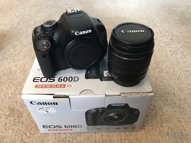 Reflex Canon EOS 600D + OBIETTIVI + ACCESSORI