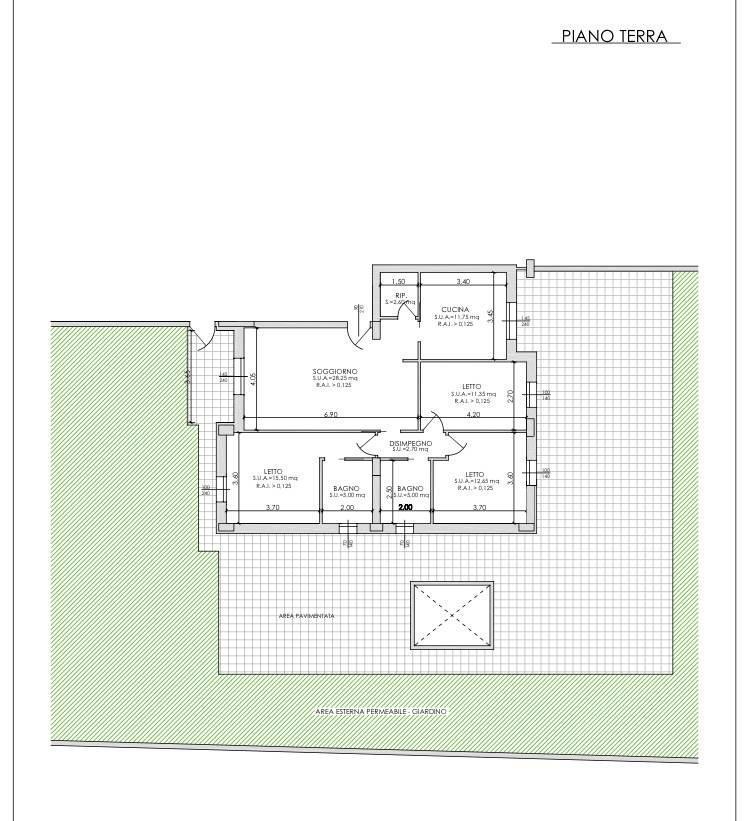 Appartamento quadrilocale 125 mq, provincia di piacenza