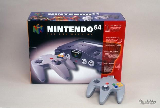 Console Nintendo 64 con scatola originale