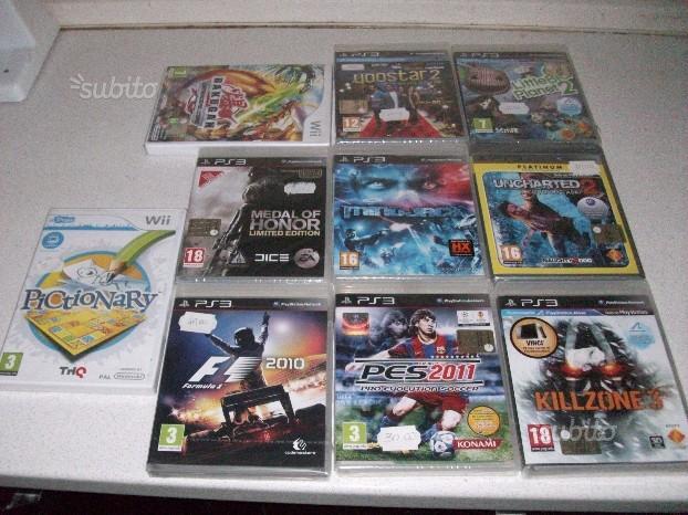 Giochi PS3 WII Nuovi Sigillati