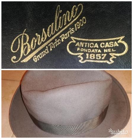 Borsalino cappello feltro grigio misura 56 1f637903dba5