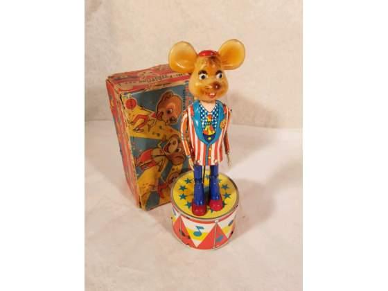 Classic tin toy, TOPO GIGIO DANCER, The italian mouse/Ed