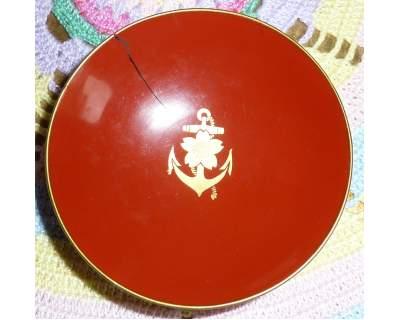 Coppa sake marina giapponese 2 guerra mondiale legno laccato