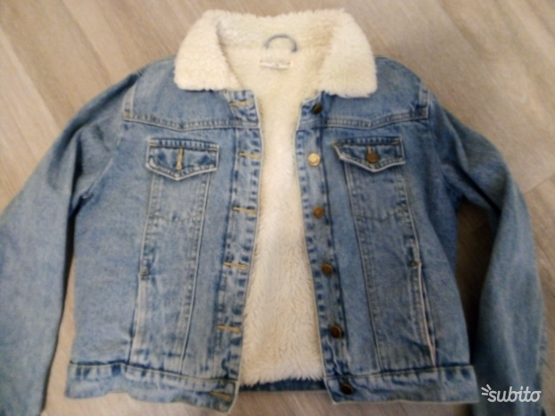 Giacca jeans sherpa, M