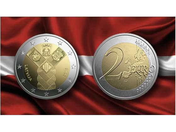 LETTONIA, 2 Eur  commemorativo, 100 anni Stati Baltici,