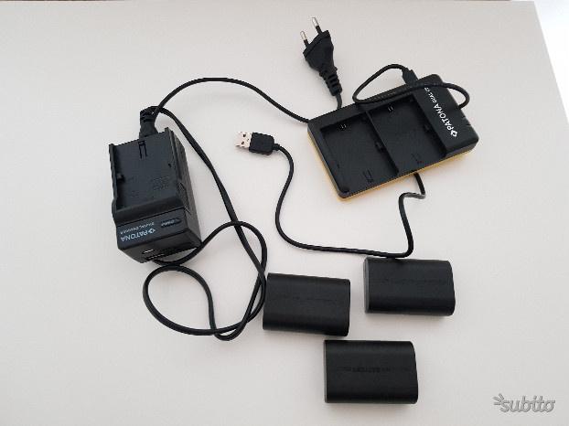 4 batterie+2caricabatterie (uno doppio)