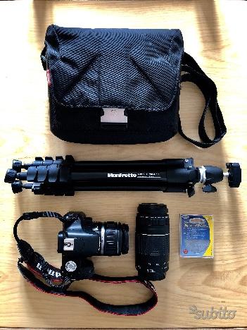 Canon EOS 500D + kit obiettivi + cavalletto