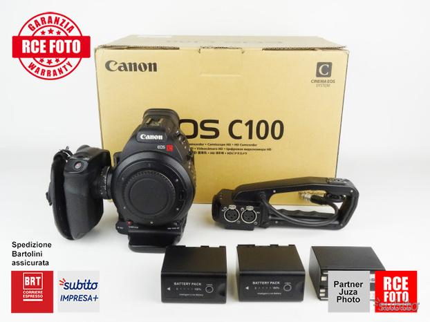 Canon EOS C100 con 3 batterie compatibili