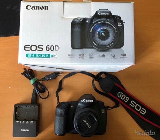 Canon Reflex EOS 60D EFS EF solo corpo