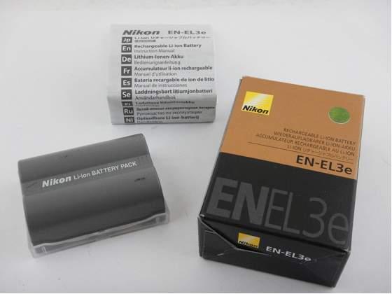 Nikon EN-EL3e Batteria D50 D70 D80 D90 D100 D200 D300 D300s