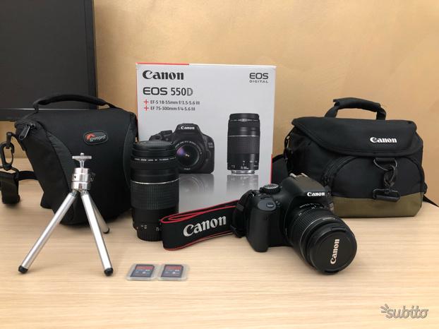 Reflex Canon Eos 550D + mm + mm +acces