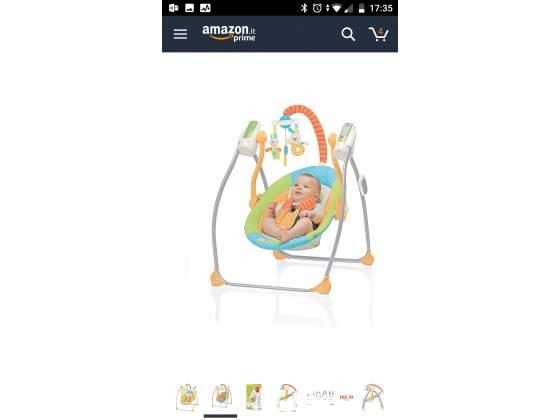 Vendo Altalena con Telecomando Miou per neonati.