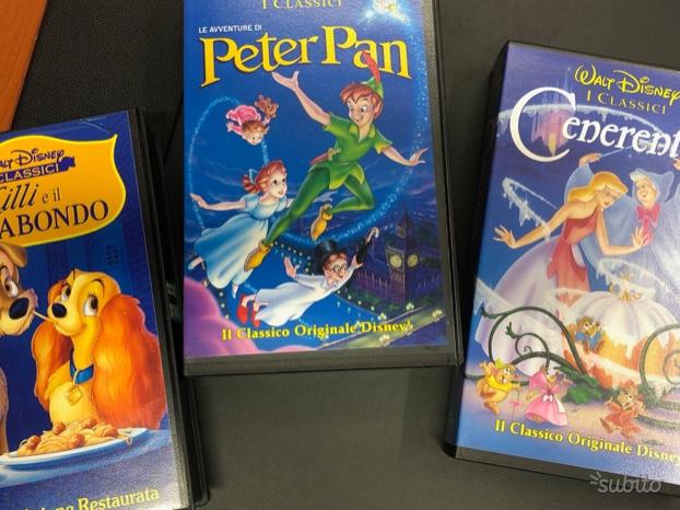 33 VHS originali cartoni animati Disney