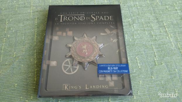 Trono di Spade Stagione 2 due 5 Blu Ray Steelbook