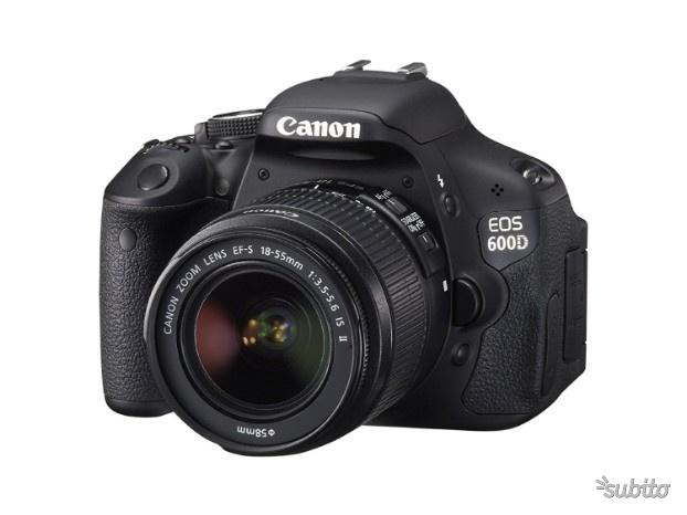 Canon 600d +  IS II + 2 obiettivi e FLash