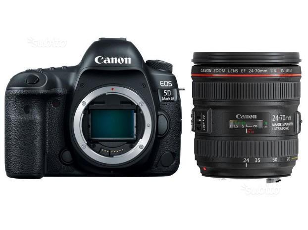 Canon reflex 5d mark iv +  f.4l is nuovo