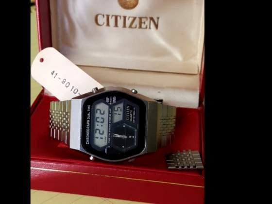 Citizen Vintage LCD dual time quartz