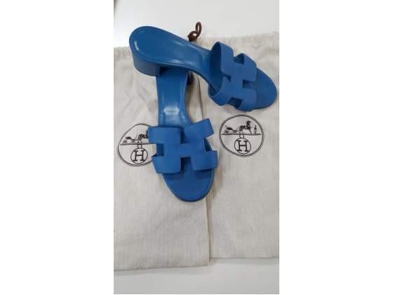 Sandali donna blu hermes h