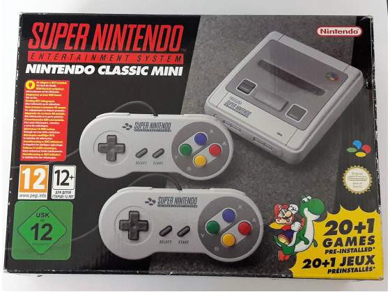 Consolle Super Nintendo classic mini 20+1 giochi installati