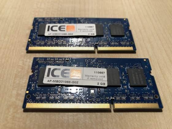 RAM 2x2Gb DDRMhz