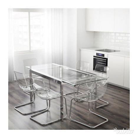 4 sedie cucina ikea vilmar posot class for Ikea sedie nere
