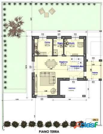 Villetta abbinata nuova con ampio giardino