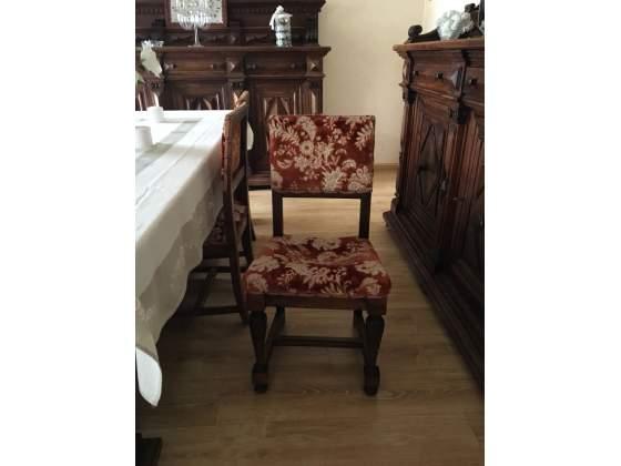 8 Sedie in stile d'epoca in legno