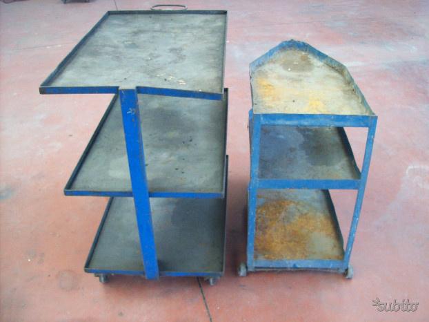 Carrelli porta attrezzatura in lamiera con ruote