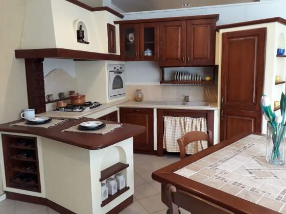 Pannelli in finta pietra posot class - Struttura cucina in muratura ...