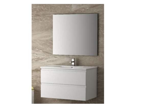 Mobile da Bagno da 80 cm, lavabo ceramica+specchio.BIANCO