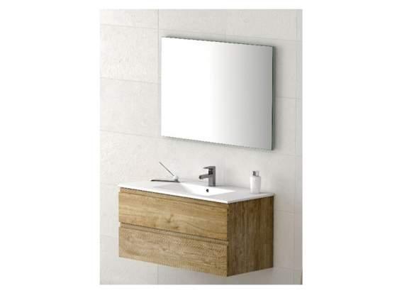 Mobile da Bagno da 80 cm, lavabo in ceramica+specchio.