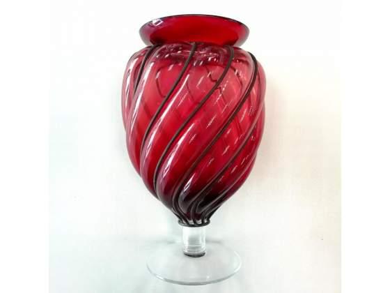 Vaso vetro rosso piombo
