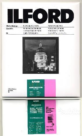Carta fotografica bianco e nero Ilford 30x40 barit