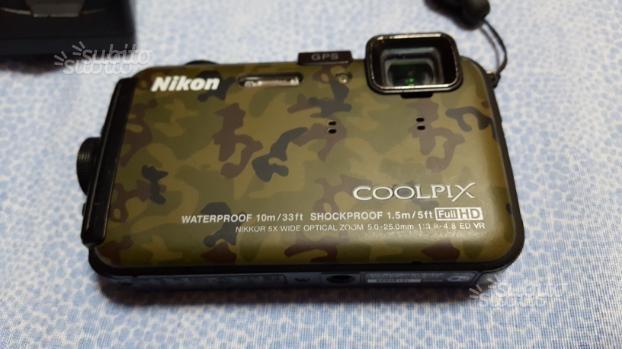 Fotocamera subacquea nikon aw100