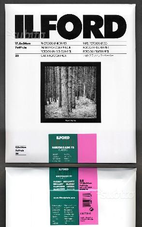 Ilford carta fotografica 18x24 x bianco e nero