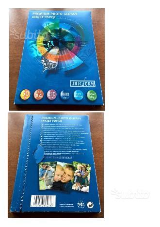 50 Fogli Carta Fotografica A4 Premium Photo Glossy