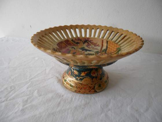 Alzata in ceramica Royal Satsuma