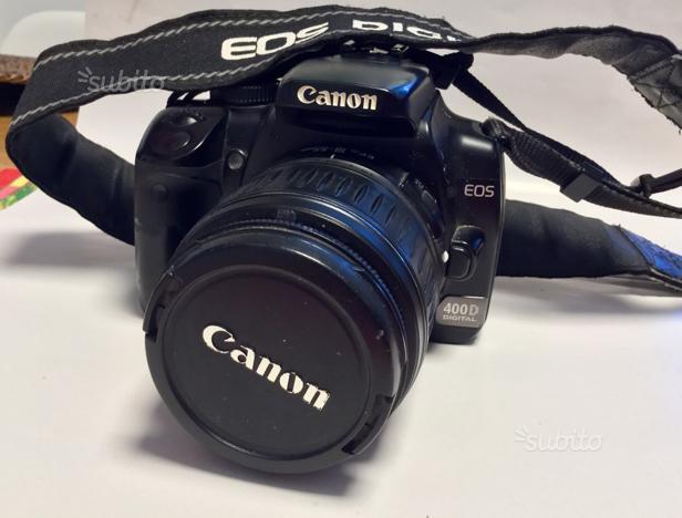 Canon EOS 400 D con ottica aggiuntiva Canon