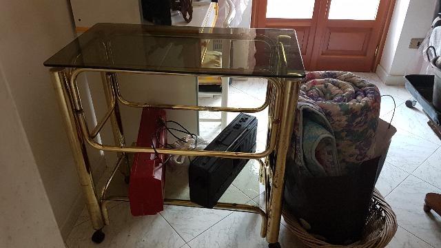 Cestino stoffa porta pane con fondo nocciolini posot class - Porta tv con rotelle ...