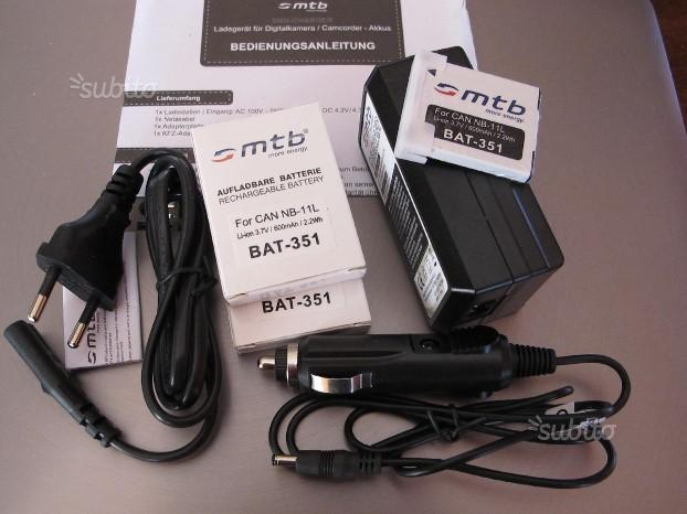 MTB charger DCL/638 CAN NB11L +2 batterie li-ion